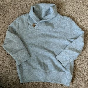 Boys gray cowl neck sweater